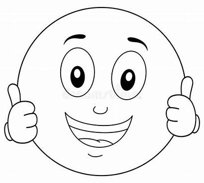 Smiley Coloring Cool Character Cartoon Emoticon Smiling