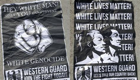 white supremacist posters  display  auckland