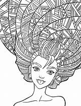 Coloring Hair Pages Salon Printable Getcolorings sketch template