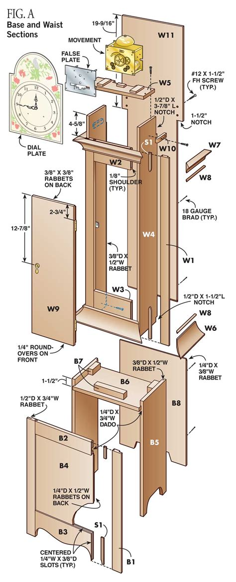 pdf diy plans for grandfather grandfather clock woodworking plans free 2