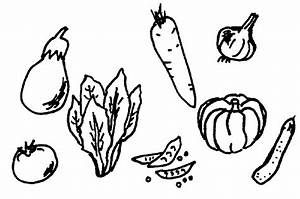 Fruit And Vegetable Clipart Black And White | Clipart ...