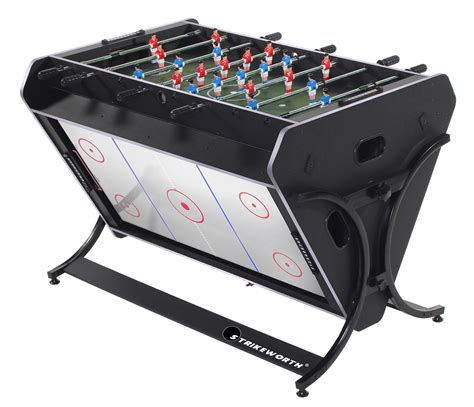 air hockey and football table strikeworth trisport multi games table pool air hockey