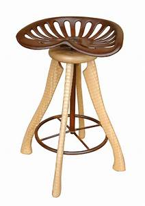 Tractor Seat Stool by Brad Smith (Wood Stool) Artful Home
