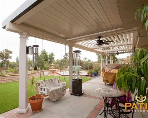 half covered patio best open patio cover design ideas remodel pictures houzz