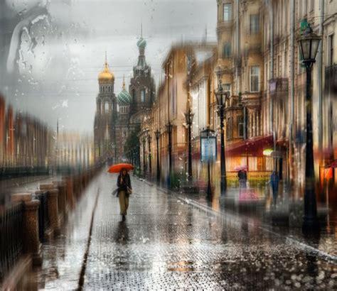 beautiful photographs  dreamy rainy city scenes