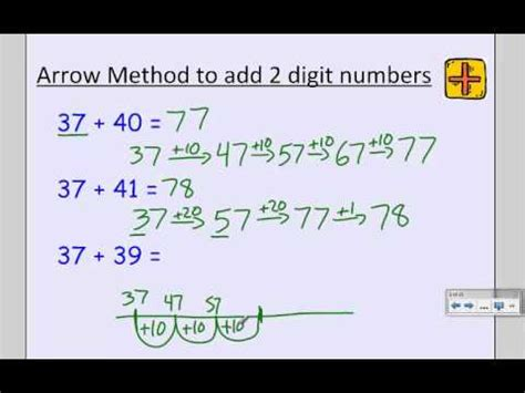 grade arrow method  addtion subtraction youtube