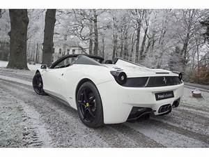 Predominantly White Ferrari 458 Italia Spider Looks Truly ...
