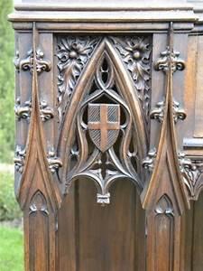 Architecture Neo Classique : console gothique en noyer sculpt 1850 1920 mobilier n o ~ Melissatoandfro.com Idées de Décoration