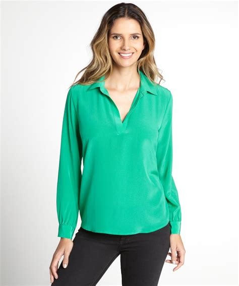 womens green blouse womens green blouse tulips clothing