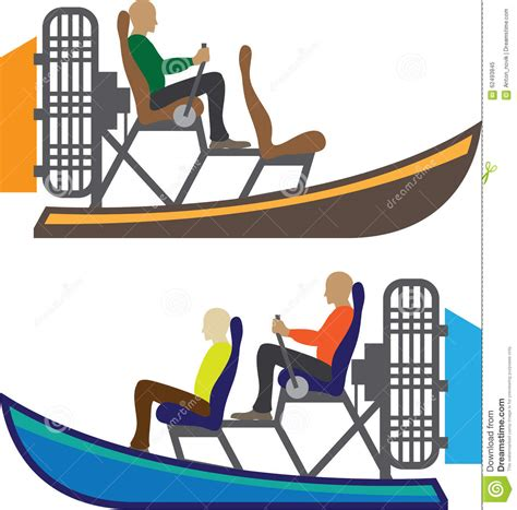Airboat Drawings by Airboat Vector Eps Stock Vector Image 62493845