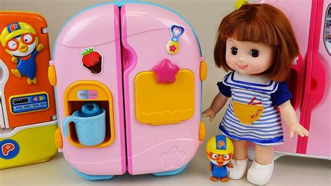 id馥s cuisines baby doll refrigerator toys and pororo food toys khmertracks