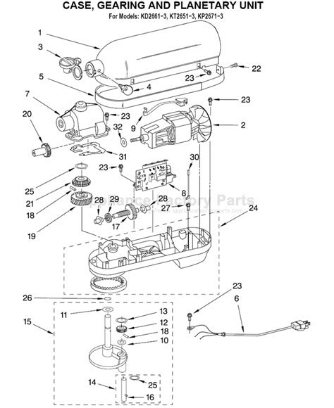 Kitchenaid Kpxwh Parts Mixers