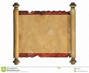 3d scroll of old parchment stock illustration. Image of ...