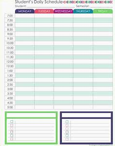 3 student daily planner ganttchart template With daily schedule template for students