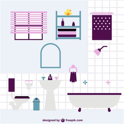 Stylish Bathroom Vector  Free Download
