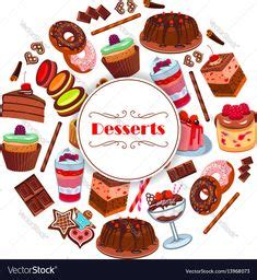 cartoon cakes  desserts background cakes cartoon
