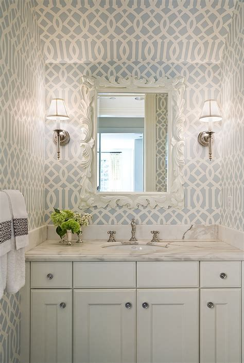 white bathroom design ideas 20 gorgeous wallpaper ideas for your powder room
