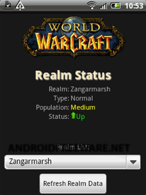 wow realm status android app  apk  jeffrey geer