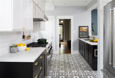When i also consider the butcher block counter top that i'm planning to replace the existing painted ones, i think this combo is my favorite. White Top Cabinets Gray Bottom Cabinets Design Ideas