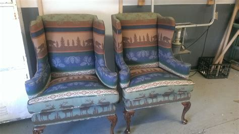 reupholstered cabin chairs it s bout time upholstery