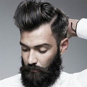 Slick hair, check. Side part, check. Beard, check ...