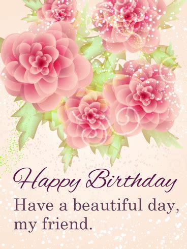 beautiful day happy birthday card  friends