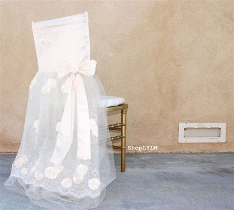 bridal chair cover wedding chair sheer chair cover