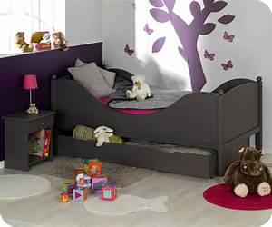 Lit Sommier 90x190 : lit enfant color taupe 90x190 cm avec sommier et matelas ~ Teatrodelosmanantiales.com Idées de Décoration