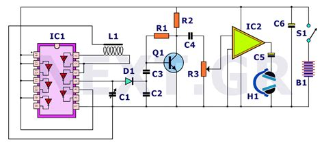 Simple Deep Searching Metal Detector Circuit Under
