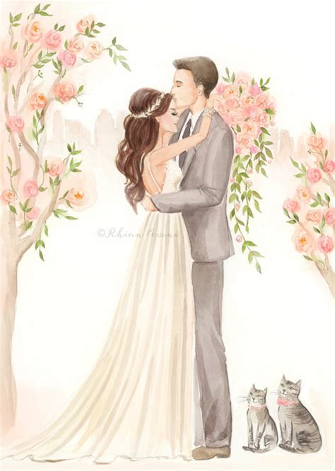 Items similar to Save the Date Illustration Custom