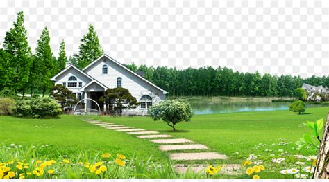 Background House by Humidifier Rural House Of Forest Lawn Background