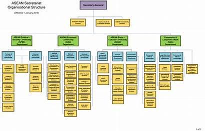 Structure Organizational Asean Organisational Secretariat Secretary Management