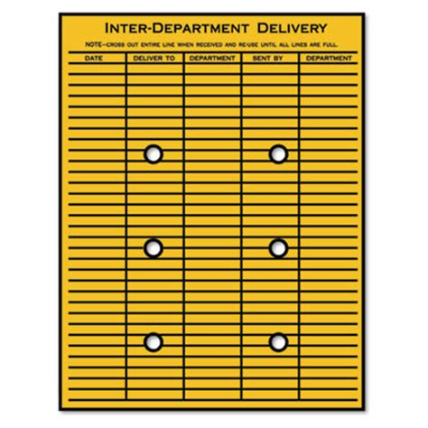 Interoffice Envelope Template Cover by Quality Park Brown Kraft String Button Interoffice