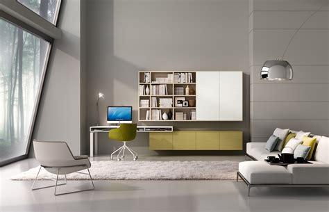 mobile soggiorno angolo angolo studio in soggiorno integrato nella libreria o in