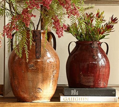 marlowe vases burgundy oche rustic home decor