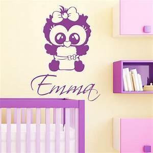 Wandtattoo Baby Mädchen : baby eulen m dchen mit wunschnamen wandtattoo ~ Markanthonyermac.com Haus und Dekorationen