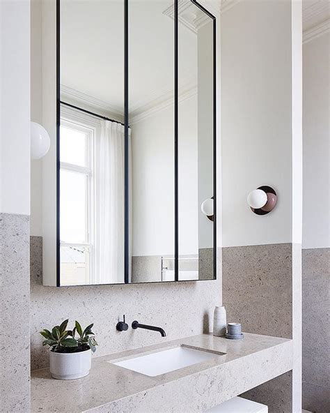 ideas  bathroom mirror cabinet  pinterest