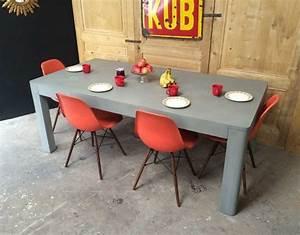 Table A Manger Beton : table en b ton xxl ~ Teatrodelosmanantiales.com Idées de Décoration