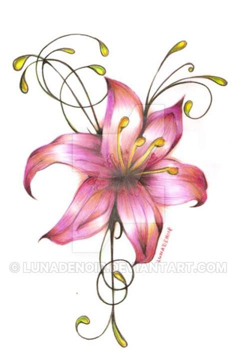 lilie vorlage lilie vorlage in farbe by lunadenoir on deviantart