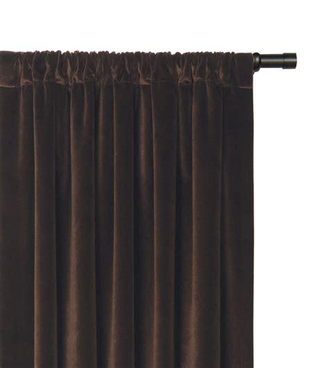 brown curtain pole curtains center