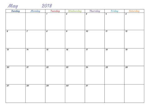 printable calendar template free printable 2018 monthly usa calendar calendar 2018