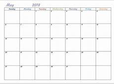 Free Printable 2018 Monthly USA Calendar Calendar 2018