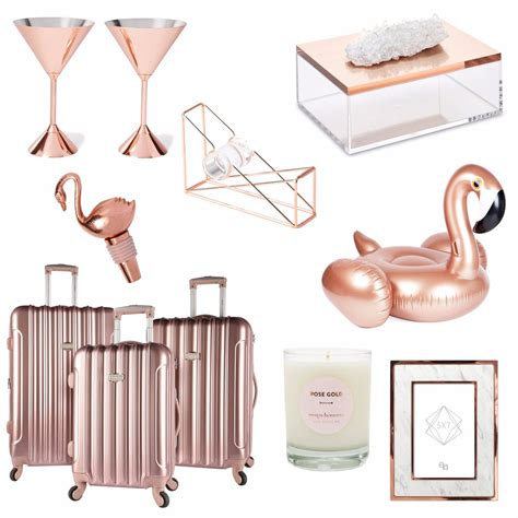 home design gifts rose gold home decor gifts popsugar home