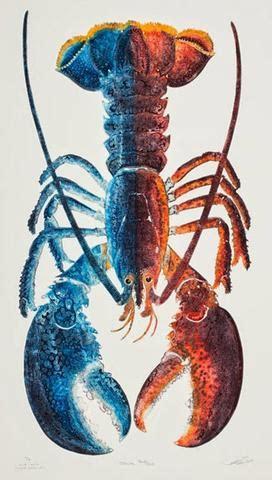 handmade blue lobster artwork matthew smith  quincy pond