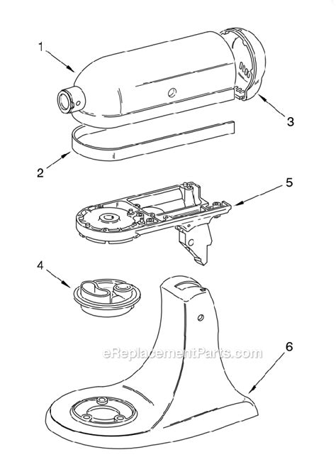 Kitchenaid Mixer Electrical Smell by Kitchenaid Ksm150psgn1 Parts List And Diagram