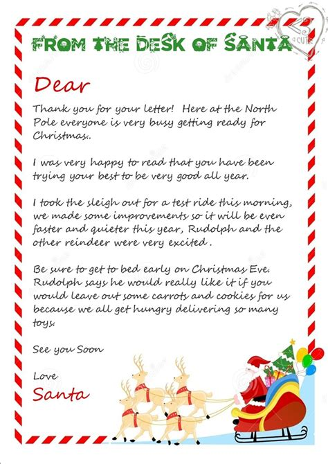 free printable letter from santa template letters from santa australia letter of recommendation