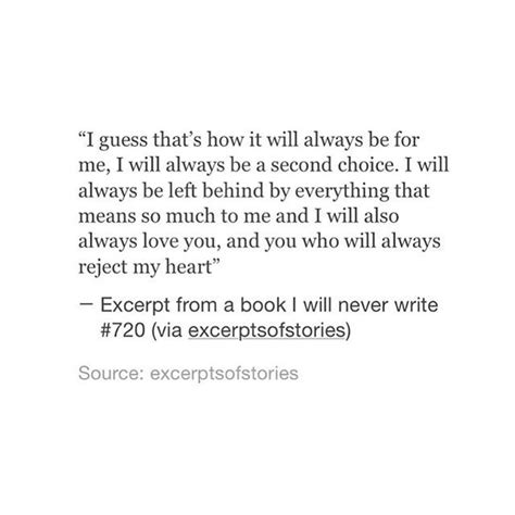 second choice love quotes