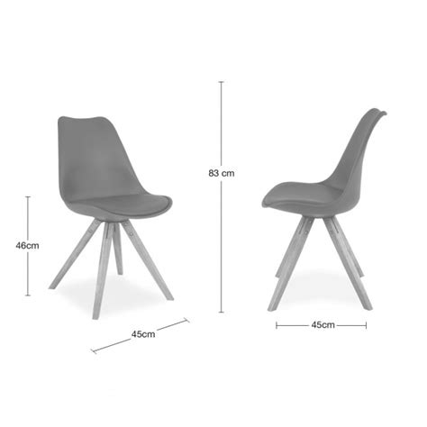 Chaise Bercante Blanc Et Grise by Eames Inspired White Dining Chair With Pyramid Oak Wood
