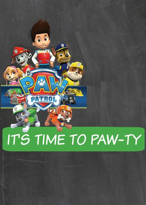 paw patrol invitation template how to make a paw patrol digital invitation includes free clipart cakecrusadersblog