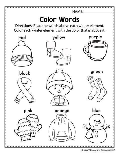 free winter literacy worksheet for kindergarten no prep literacy worksheets kindergarten